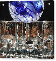 Glass On Glass Acrylic Print by Jolanta Anna Karolska