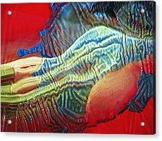 Glass Painting 23 Detail 1 Acrylic Print by Patrick Morgan