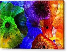 Glass Palette Acrylic Print by Kasia Bitner