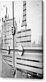 Glass Panels And Reflections Acrylic Print by Tom Gowanlock