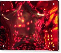 Glass Red And Orange Star Acrylic Print