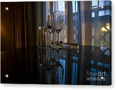 Glass Reflection Acrylic Print by Svetlana Sewell