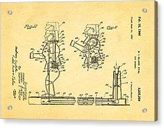 Glass Rock Em Sock Em Robots Toy Patent Art 3 1966 Acrylic Print by Ian Monk