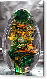 Glass Sculpture Go1  Acrylic Print by David Patterson