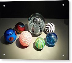 Glass Spheres Acrylic Print by Sanford