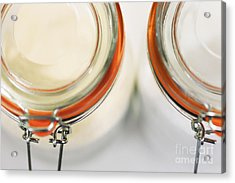 Glass Sugar Jars Acrylic Print by Natalie Kinnear