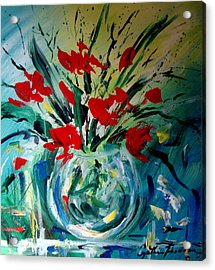 Glass Vase Acrylic Print by Cynthia Hudson