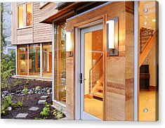 Glass Windows And Doors Of Modern House Acrylic Print by Will Austin