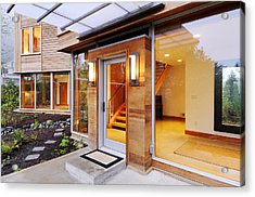 Glass Windows In Modern Home Acrylic Print by Will Austin