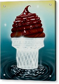 Glasscream Cone Acrylic Print