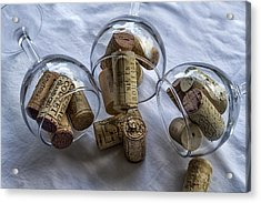 Glasses Of Corks Acrylic Print