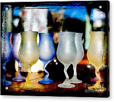 Glassware Acrylic Print by Bobbi Feasel