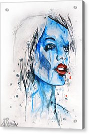 Glassy Girl Acrylic Print by Atinderpal Singh