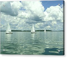 Glassy Sailing Acrylic Print by John Wartman