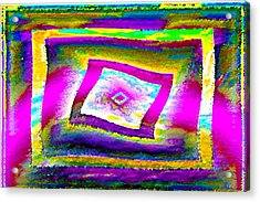 Glbtq Free And Unframed   Hi-saturation Version Acrylic Print by Rebecca Phillips