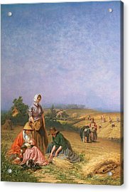 Gleaning Acrylic Print by George Elgar Hicks