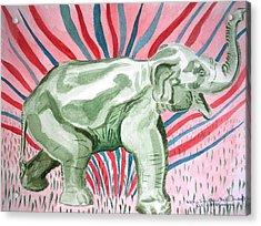 Gleeful Elephant Acrylic Print