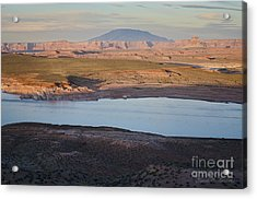Glen Canyon And Navajo Mountain Acrylic Print by Dave Gordon