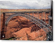 Glen Canyon Dam Bridge Acrylic Print by Jim West