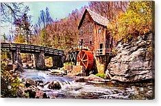 Glen Creek Grist Mill Painting Acrylic Print