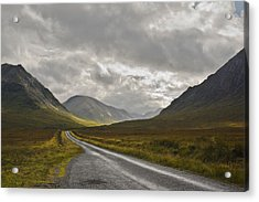 Glen Etive In The Scottish Highlands Acrylic Print by Jane McIlroy