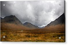 Acrylic Print featuring the photograph Glen Etive by Trever Miller