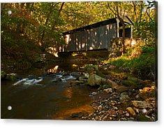 Glen Hope Covered Bridge Acrylic Print