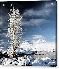 Glencoe Winter Landscape Acrylic Print