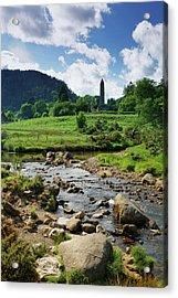 Glendalough Creek With The Old Monastic Acrylic Print