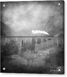 Acrylic Print featuring the photograph Glenfinnan Black And White by Roy  McPeak