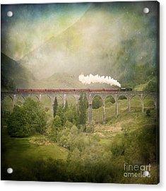 Glenfinnan Acrylic Print by Roy  McPeak