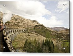 Glenfinnan Train Viaduct Scotland Acrylic Print by Sally Ross