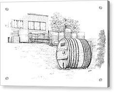 Glenora Winery Acrylic Print by Steve Knapp