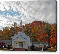 Glenville In Autumn  Acrylic Print