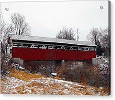 Glessner Covered Bridge Acrylic Print