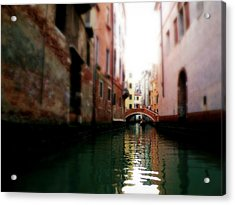Acrylic Print featuring the photograph Gliding Along The Canal  by Micki Findlay