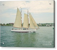 Gliding In Full Sail Acrylic Print