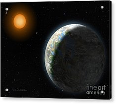 Gliese 581 G Acrylic Print by Lynette Cook