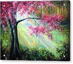 Glimmer Acrylic Print by Ann Marie Bone