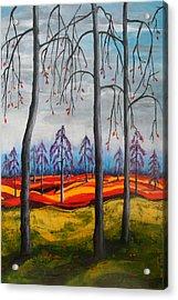 Glimpse Of Autumn Acrylic Print by Kathy Peltomaa Lewis