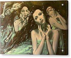 Glissando Acrylic Print by Dorina  Costras