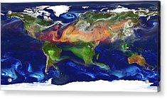 Global Dust And Aerosol Acrylic Print by William Putman, Nasa