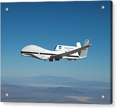Global Hawk Unmanned Aerial Vehicle Acrylic Print by Nasa/tom Miller