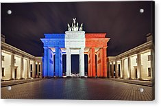 Global Reaction To Paris Terror Attacks Acrylic Print by Ricowde
