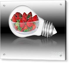 Global Strawberries Acrylic Print by Kaye Menner