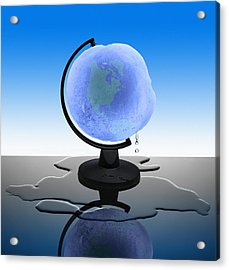 Global Warming, Conceptual Image Acrylic Print by Science Photo Library