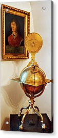 Globe And Portrait Of Copernicus Acrylic Print by Babak Tafreshi