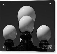 Acrylic Print featuring the photograph Globes by Linda Bianic
