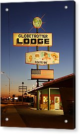Globetrotter Lodge - Holbrook Acrylic Print by Mike McGlothlen
