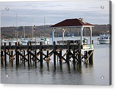 Gloomy Day Northport Dock Long Island New York Acrylic Print